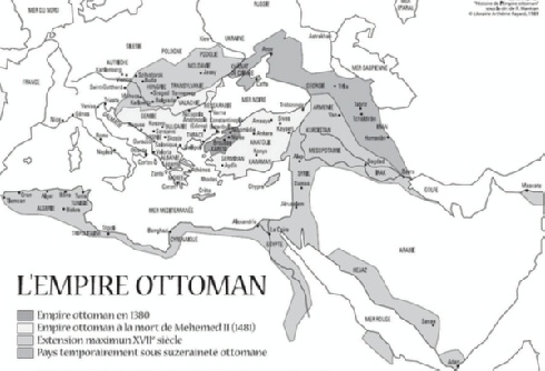 A 11 les ottomans - La carte de l empire ottoman ...