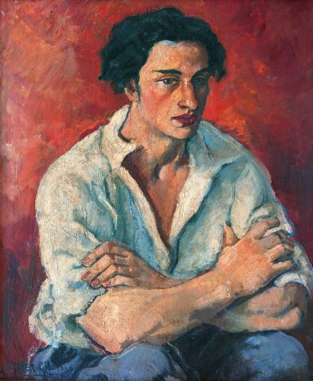 Amrita Sher-Gil, Portrait of a Young Man, 1930 - Copyright National Gallery of Modern Art New Delhi - Courtesy Schirmer / Mosel