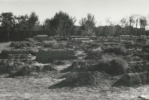 Fig. 10 Already decaying graves approx. 250 - 300 years old  located near to the cemetery administrator's building - Courtesy Werner Herberg, 1973